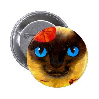 Siamese Cat Feline Art Painting - Multi Pins