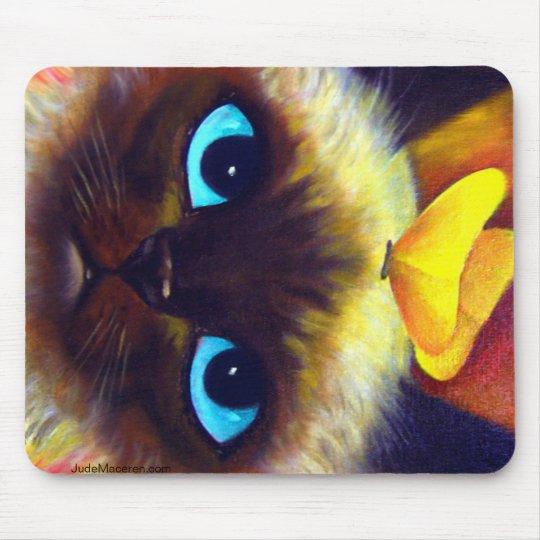 Siamese Cat Feline Painting - Mousepad