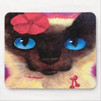 Siamese Cat Feline Pet Painting - Multi Mouse Mats