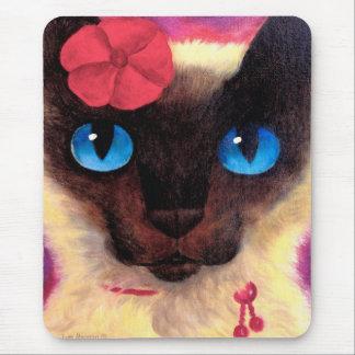 Siamese Cat Feline Pet Painting - Multi Mouse Pad