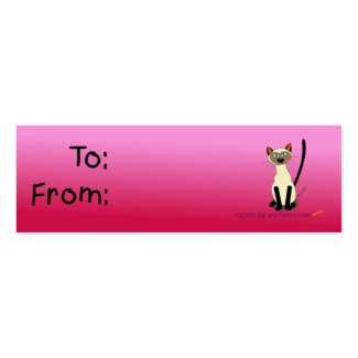Siamese Cat Gift Tag (Pink) profilecard
