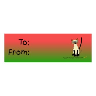 Siamese Cat Gift Tag (Red and Green) profilecard