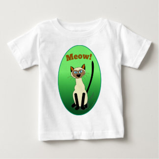 Siamese Cat (Green) Infant Shirt