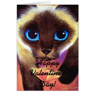 Siamese Cat Happy Valentine's Day! Card