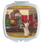 Siamese Cat Holiday Art Compact Mirror