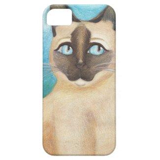 Siamese Cat Illustration iPhone 5/5S Case