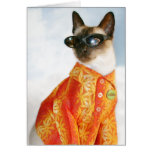 Siamese Cat in Shades Card