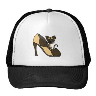 Siamese Cat in Shoe Art Trucker Hat