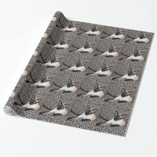 Siamese Cat Jazell leopard print Gift Wrap