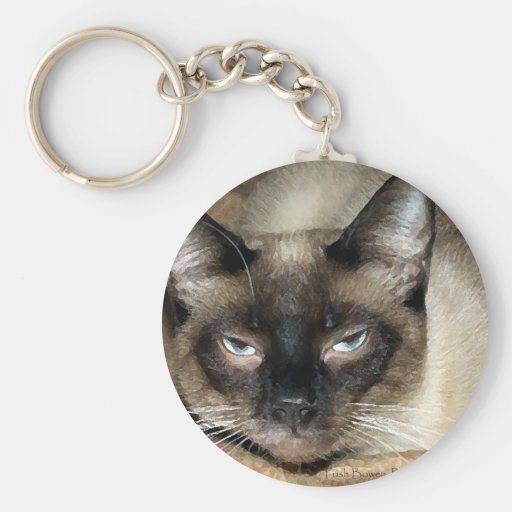Siamese Cat Key Chain