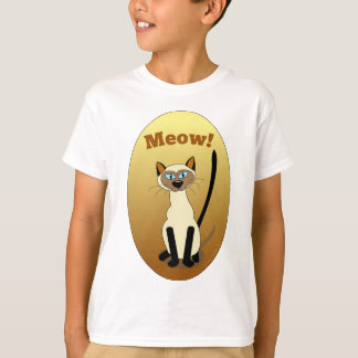 Siamese Cat Kids Shirt