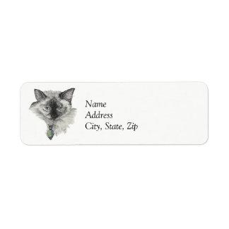 Siamese Cat Label