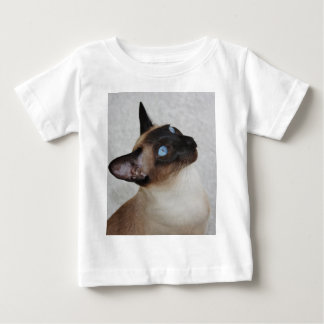 Siamese Cat Looking Up Baby T-Shirt