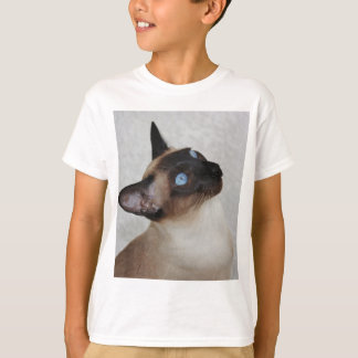 Siamese Cat Looking Up T-Shirt