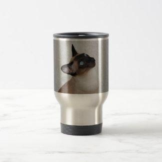 Siamese Cat Looking Up Travel Mug
