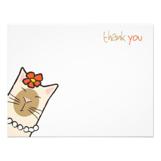 Siamese Cat Lover Flat Thank You Note Cards Personalized Announcements