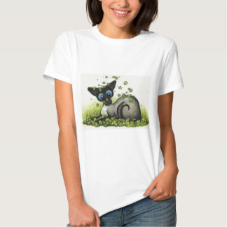 Siamese Cat Lucky Shamrock St Patricks Day -BiHrLe Shirts
