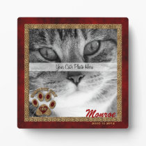 Siamese Cat Memorial Photo Plaque