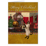 Siamese Cat - Merry Christmas Cards