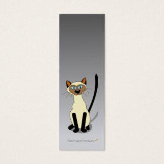 Siamese Cat Mini Bookmarks (Gray) Mini Business Card