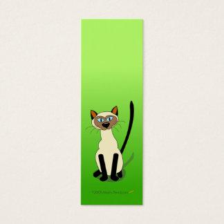Siamese Cat Mini Bookmarks (Green) Mini Business Card
