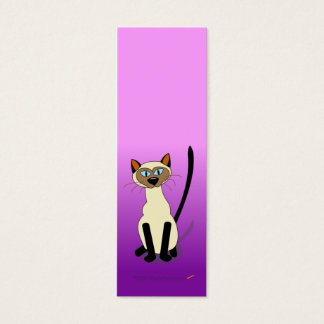 Siamese Cat Mini Bookmarks (Purple) Mini Business Card