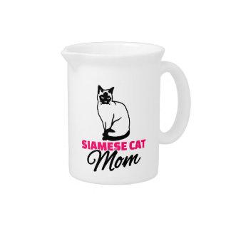 Siamese cat mom drink pitchers