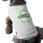 Siamese Cat Monogram Design Shirt