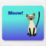 Siamese Cat Mousepad (blue)