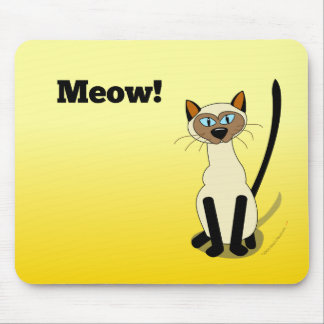 Siamese Cat Mousepad (yellow)