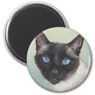 Siamese Cat Murphy 2 Inch Round Magnet