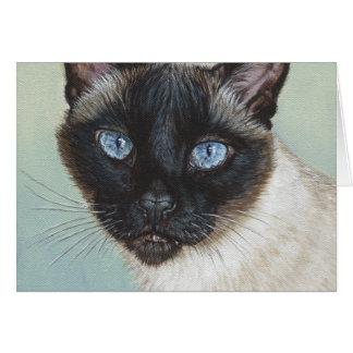 Siamese Cat Murphy Card