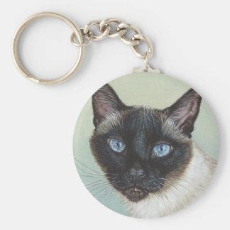 Siamese Cat Murphy Keychain
