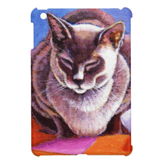 Siamese Cat on a Patchwork Quilt Case For The iPad Mini