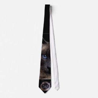 SIAMESE CAT ON A TIE