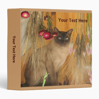 Siamese Cat On Shelf Animal 3 Ring Binder