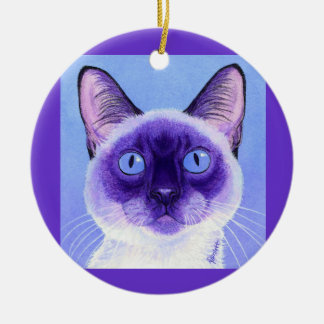 "Siamese Cat Ornament - ""The Eyes Have It"""