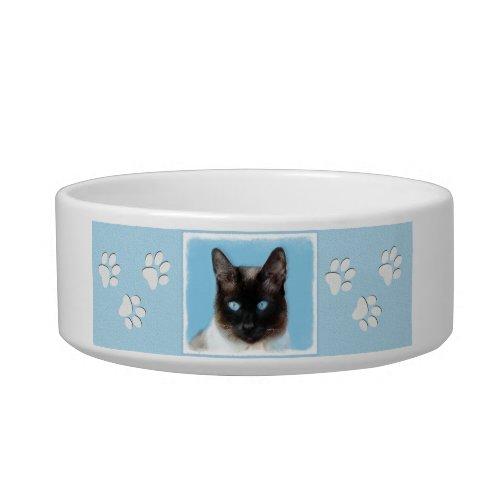Siamese Cat Painting _ Cute Original Cat Art Bowl