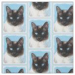 Siamese Cat Fabric Zazzle Com