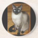 Siamese Cat Pet Animal Office Peace Love Destiny Drink Coaster