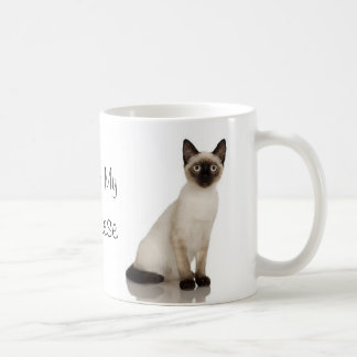 Siamese Cat Photograph Design Classic White Coffee Mug