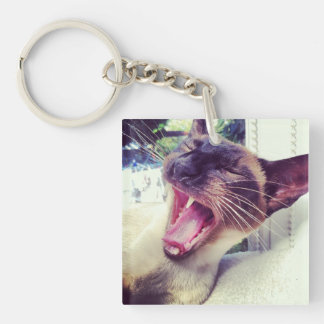 Siamese Cat Pin Keychain