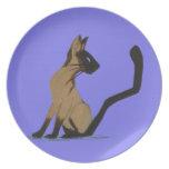 SIAMESE CAT PLATES