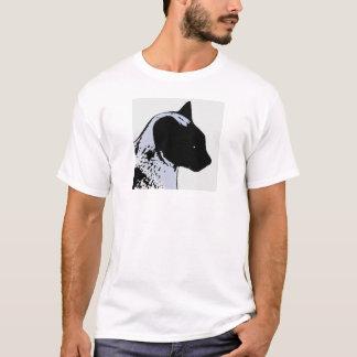 Siamese Cat Pop Art Cartoon T-Shirt