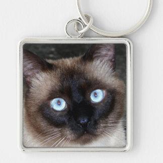 Siamese Cat Portrait Keychain