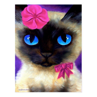 Siamese Cat Post Card - 155 Charming