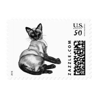 Siamese Cat Postage