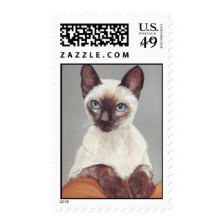 Siamese Cat Postage Stamp