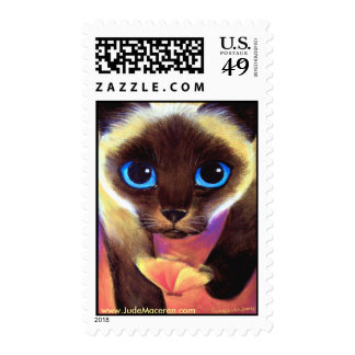 Siamese cat postage stamps - Come Follow Me
