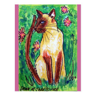 siamese cat postcard